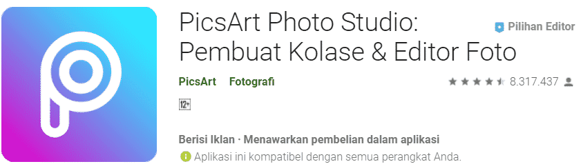 Aplikasi edit foto terbaik Android 2019