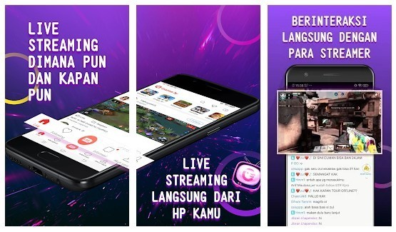 Aplikasi Live Streaming Game