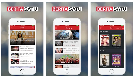 Aplikasi TV Online Berita Satu