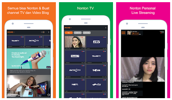 Aplikasi TV Online Mivo TV